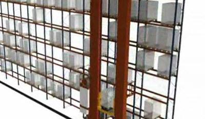 Комбинированный цикл укладки на одну глубину для двухколонного крана-штабелера для палет